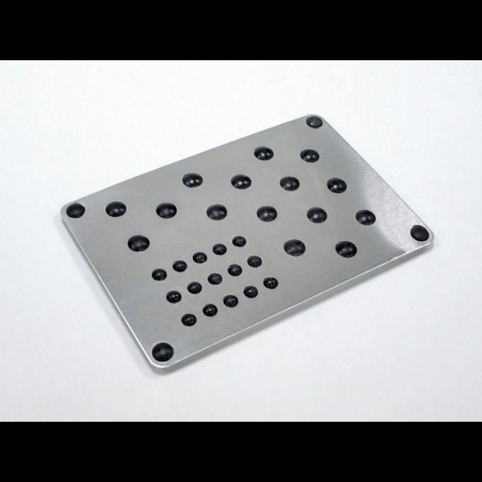 Подпятник алюминевый с резиновыми вставками